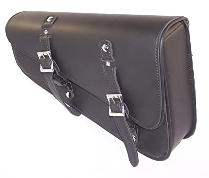 Amazon.com  MOTORCYCLE Leather Solo Bag Swingarm SIDE Bag for Custom  Chopper Bobber Rat Bike  Automotive c859b299cd26a