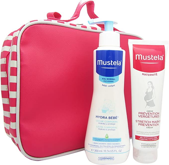 Mustela maternidad bolsa Pack ofrecen Stretch Prevención + Hydra ...