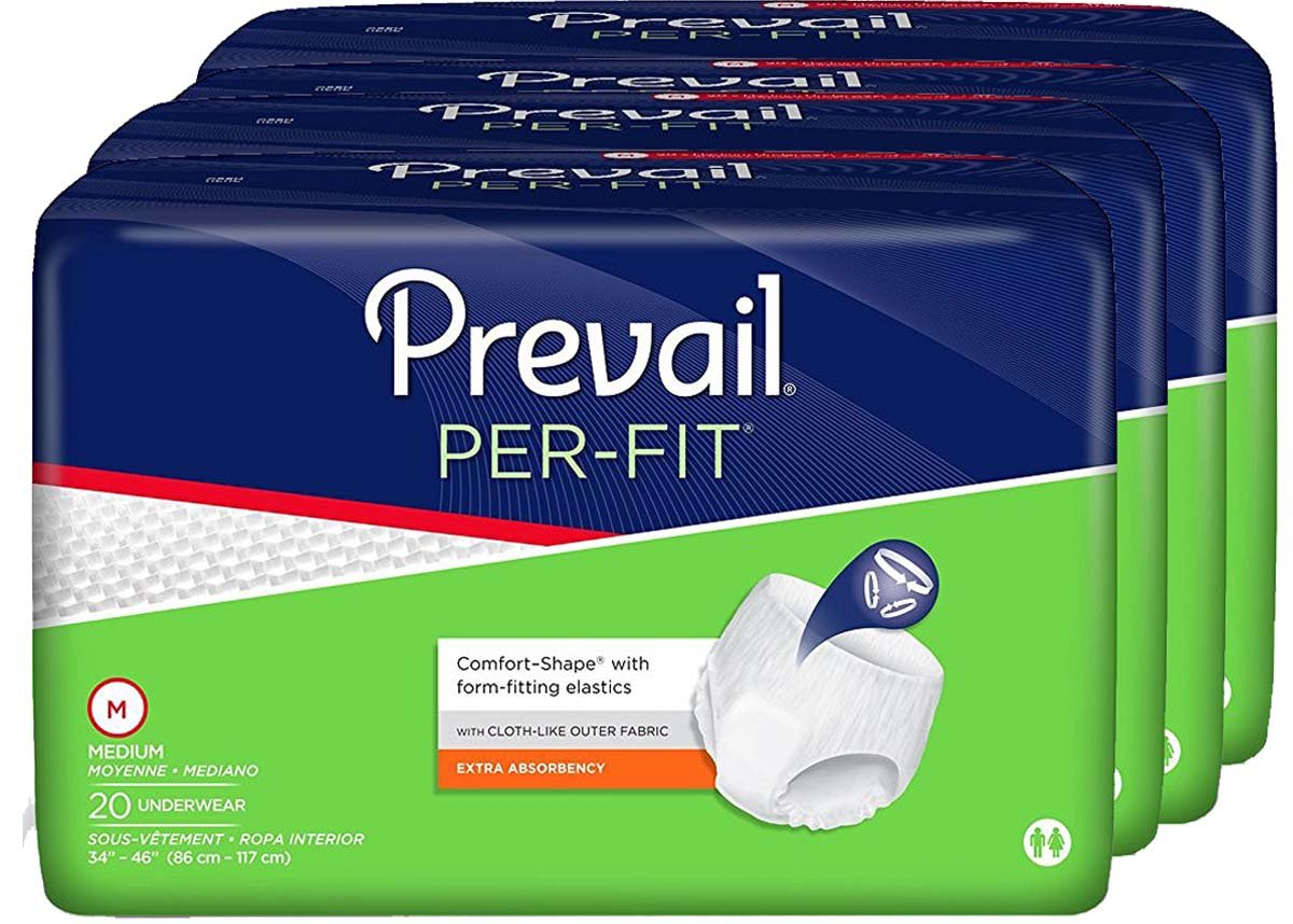 Prevail Perfit Extra-Absorbency Comfort Shape Underwear, Medium, 20-Count (Pack