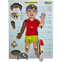Master Mart Wooden Part of Body with Plastic Knob for Learning Educational Picture Puzzle Baord Best Gift for Kids, Perfect Learning Toys for 2,3,4,5,6,7 Years Old Kids