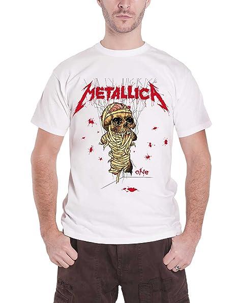 Amazon.com: Metallica - Camiseta con logotipo de One ...