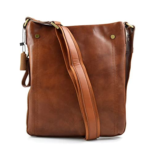 Amazon.com  Leather shoulder bag mens women messenger leather satchel  crossbody leather postman bag brown hobo bag sling leather bag  Handmade 2b73632970093