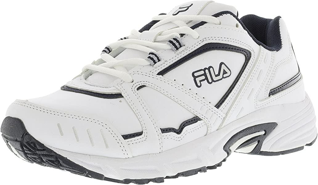 4ee93eb4e Fila Men's Talon 3 White/Metallic Silver Ankle-High Running Shoe - 10.5M