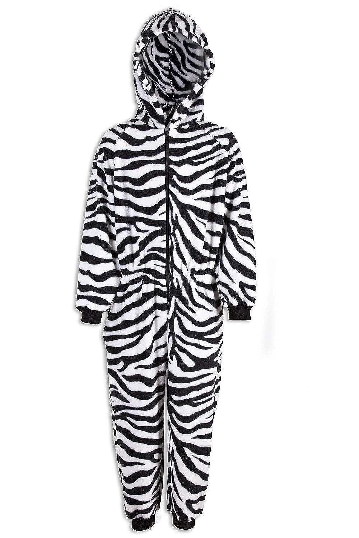 Motivo zebrato Pigiama Intero Bambino Unisex