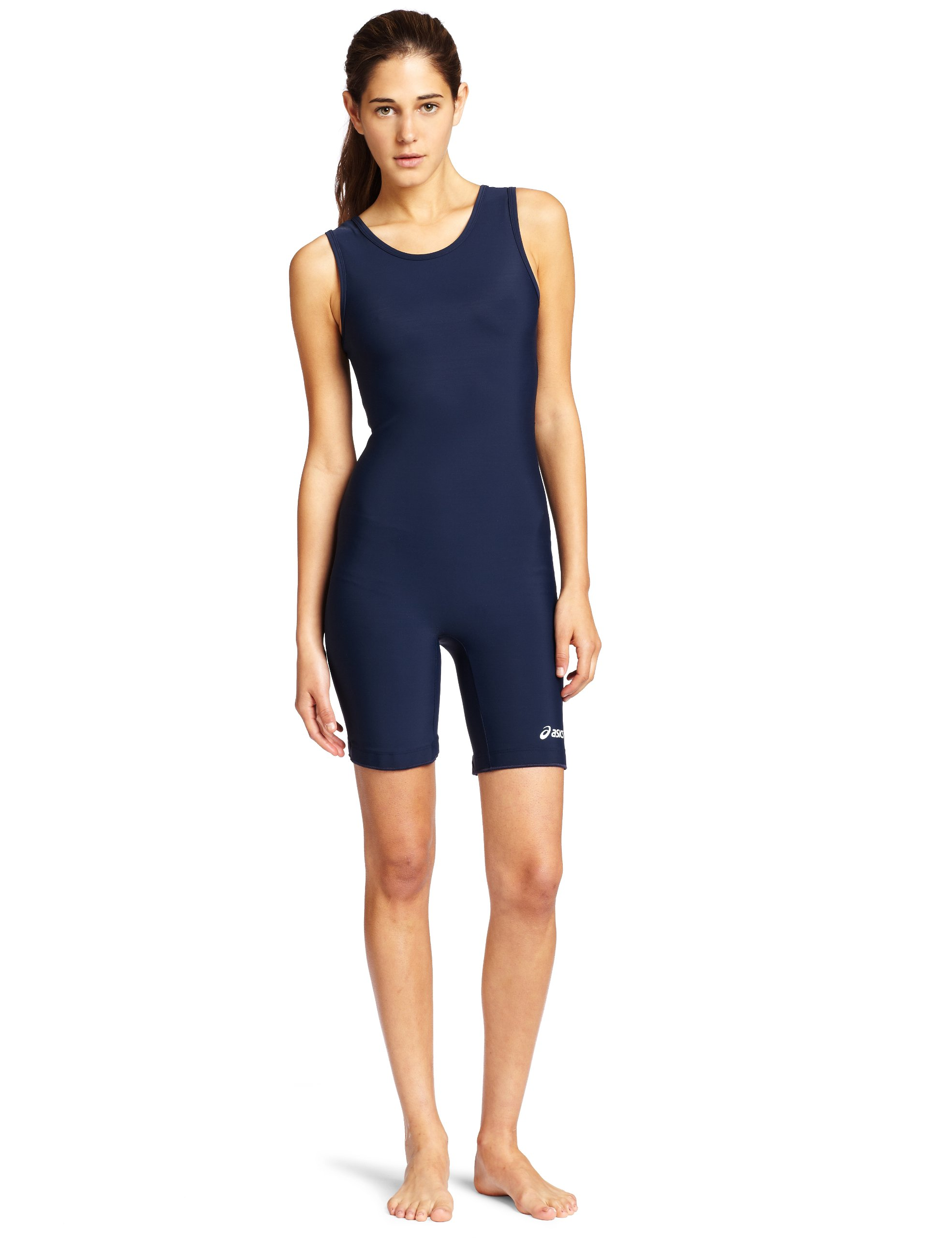 ASICS Women's Solid Modified Singlet, Navy, XX-Large