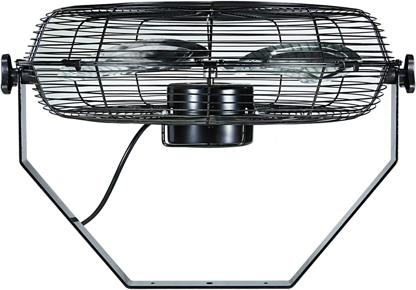 Residential and Shop Use-ETL Safety Listed Black Wall-Mount Fan Commercial Simple Deluxe 20 Inch High Velocity 3 Speed for Industrial