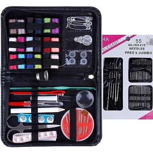 Anpro 114PC Accessoires Couture Set de Couture Applicable à la Famille 1 Trousse de Aiguilles à Coudre, au Travail à l'Urgence Accessoire de la Couture de Kit, Kit de Couture Voyage