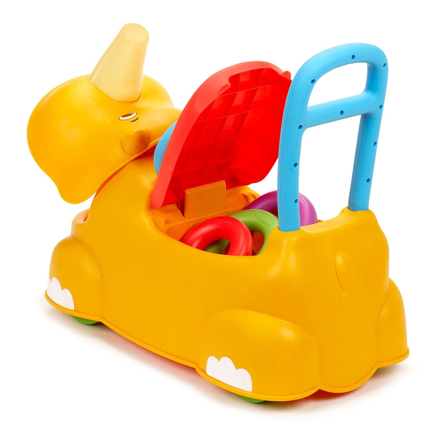 An Image of Little Tikes Scoot Around Animal Ride-On - Rhino