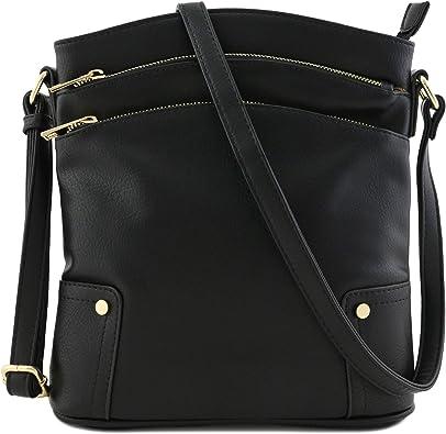 Triple top opening hand//shoulder bag