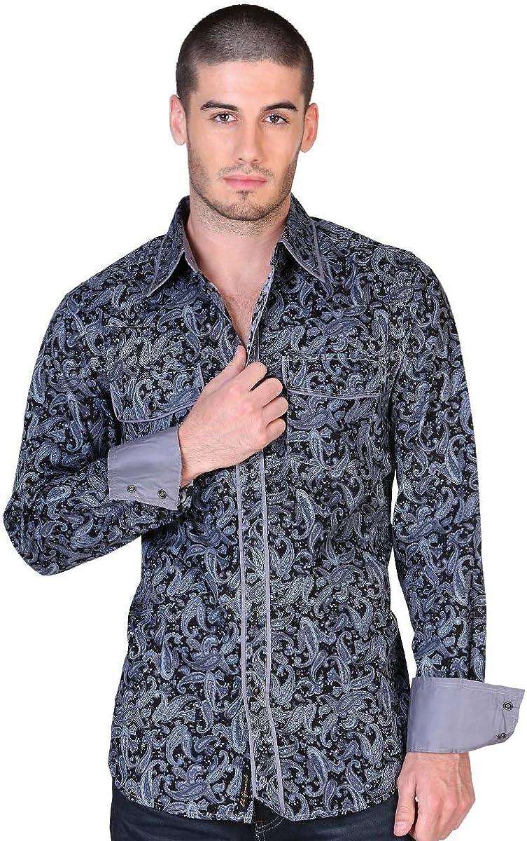 Camisa Vaquera L//Sleeve ID 31292 El General Gray Western Shirt CW