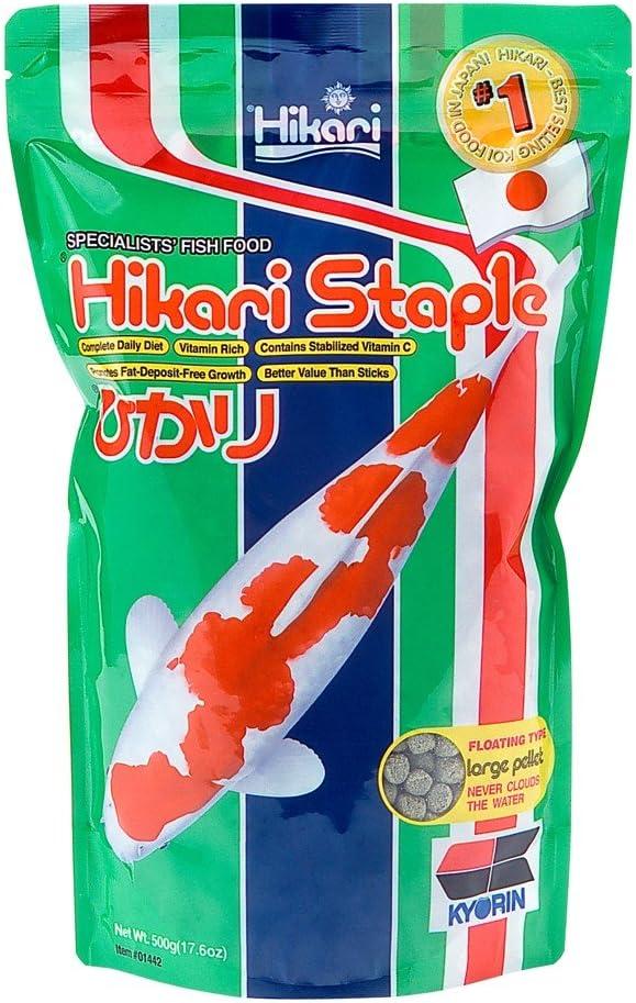 Hikari Sales 01442 17.6 Oz Hikari Staple Large Pellets Pond Food