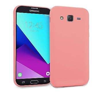 MyGadget Funda Slim para Samsung Galaxy J7 [2016] en Silicona TPU - Anti Rasguños - Carcasa Protectora Ultra Delgada [ 1,2 mm ] cómoda - Rosa