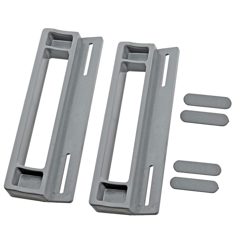 Spares2go maniglia per frigoriferi Whirlpool freezer confezione da 2, 190/mm, colore: grigio//argento