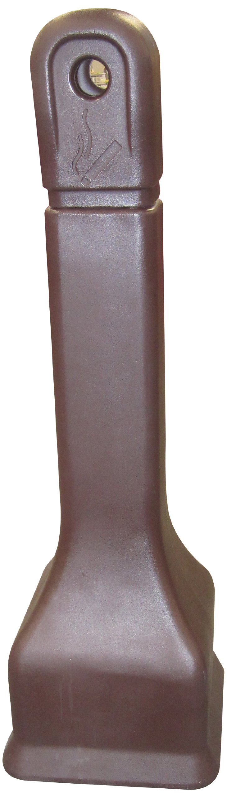 Forte Products 8001327 Plastic Cigarette Disposer Receptacle, 12'' L x 12'' W x 39'' H, Brown