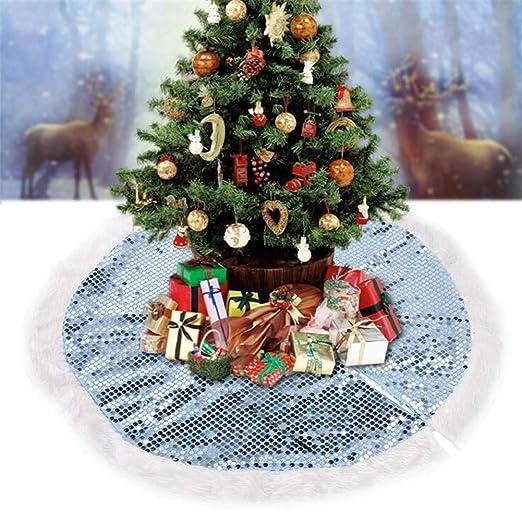 37,4 Pulgadas De Árbol De Navidad Faldas Ronda De Lentejuelas ...