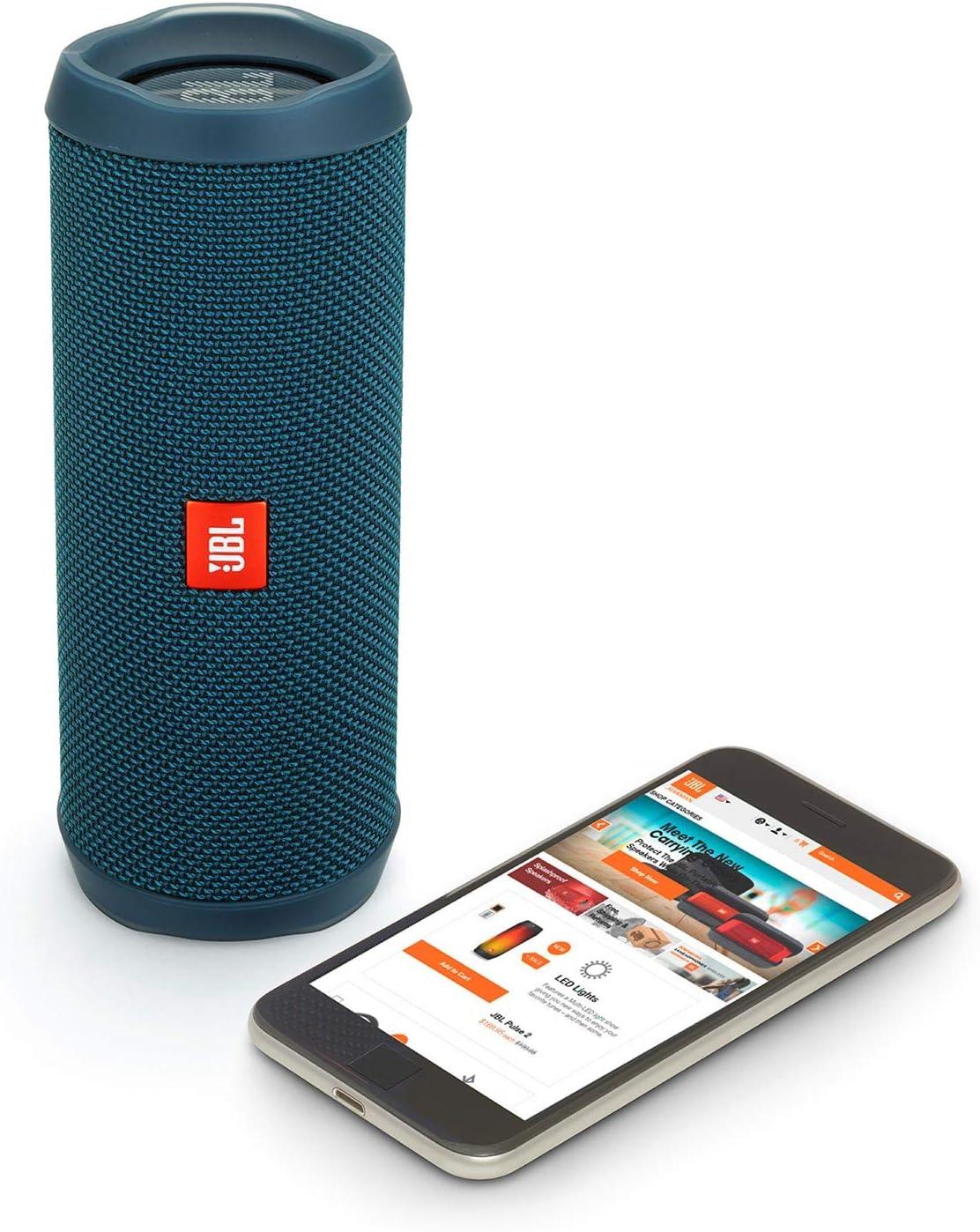 JBL Flip 4 Waterproof Portable Wireless Bluetooth Speaker Bundle Black Pair