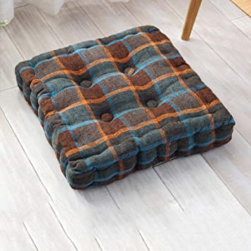 Amazon.com: Almohadilla de lino de algodón, cojín de suelo ...