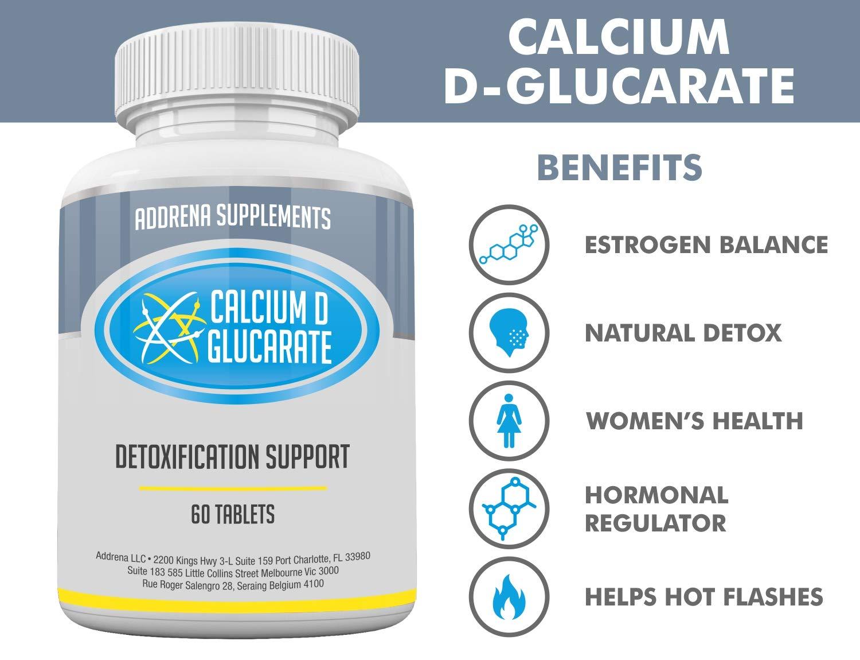 Calcium D-Glucarate 500mg- CDG para la desintoxicación del hígado ...