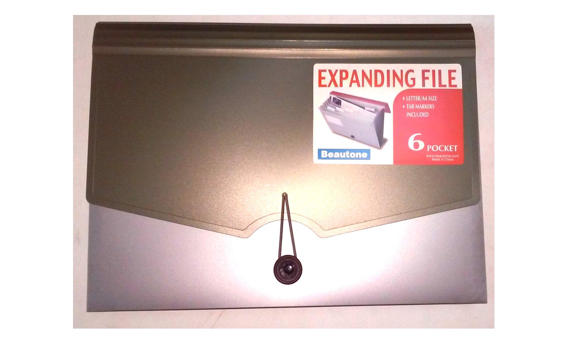Beautone 42038 Expanding File 6 Pocket Letter/A4 Size