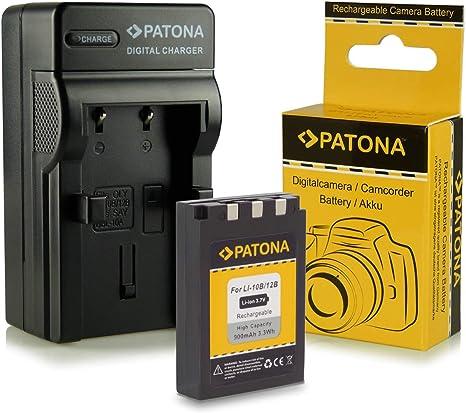 Cargador para Olympus C-50 C60 410 C-760 C-7000 X-500 Nuevo Li-12B Li-10B Batería