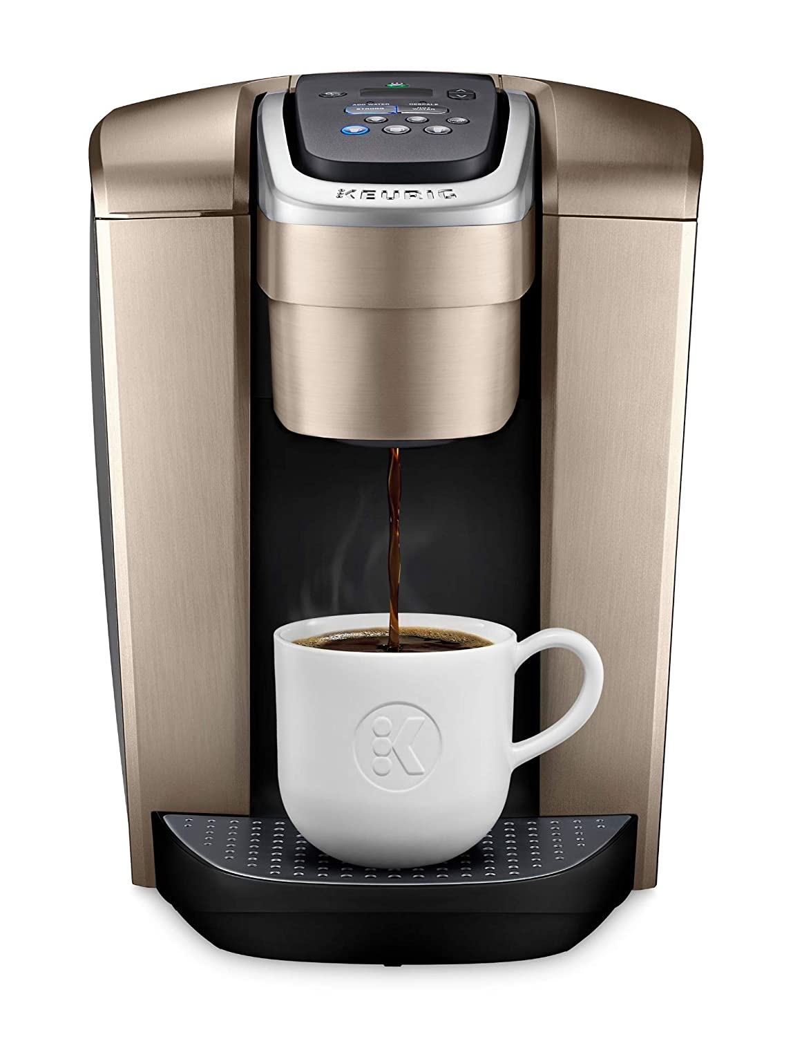 Keurig K-Elite Single Serve K-Cup Pod Coffee Maker, Brushed Gold