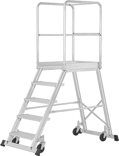 Hymer base de escaleras con ruedas, en una sola, de podio Tamaño de 600 x 800 mm, niveles de número 5, de alto 1,20 M, peso 36,6 kg: Amazon.es: Bricolaje y herramientas