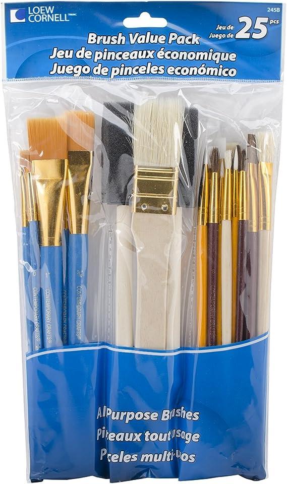 Loew Cornell Juego de brochas Value Pack-25/Pkg, Otros, Multicolor ...