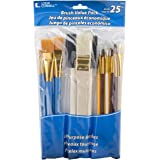Loew-Cornell 245B Brush Set, Pack of 25, Multi Color