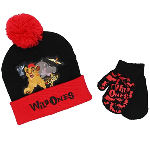 2663a3abe016c Amazon.com  The Lion Guard Toddler Beanie Hat and Mittens Set (One ...
