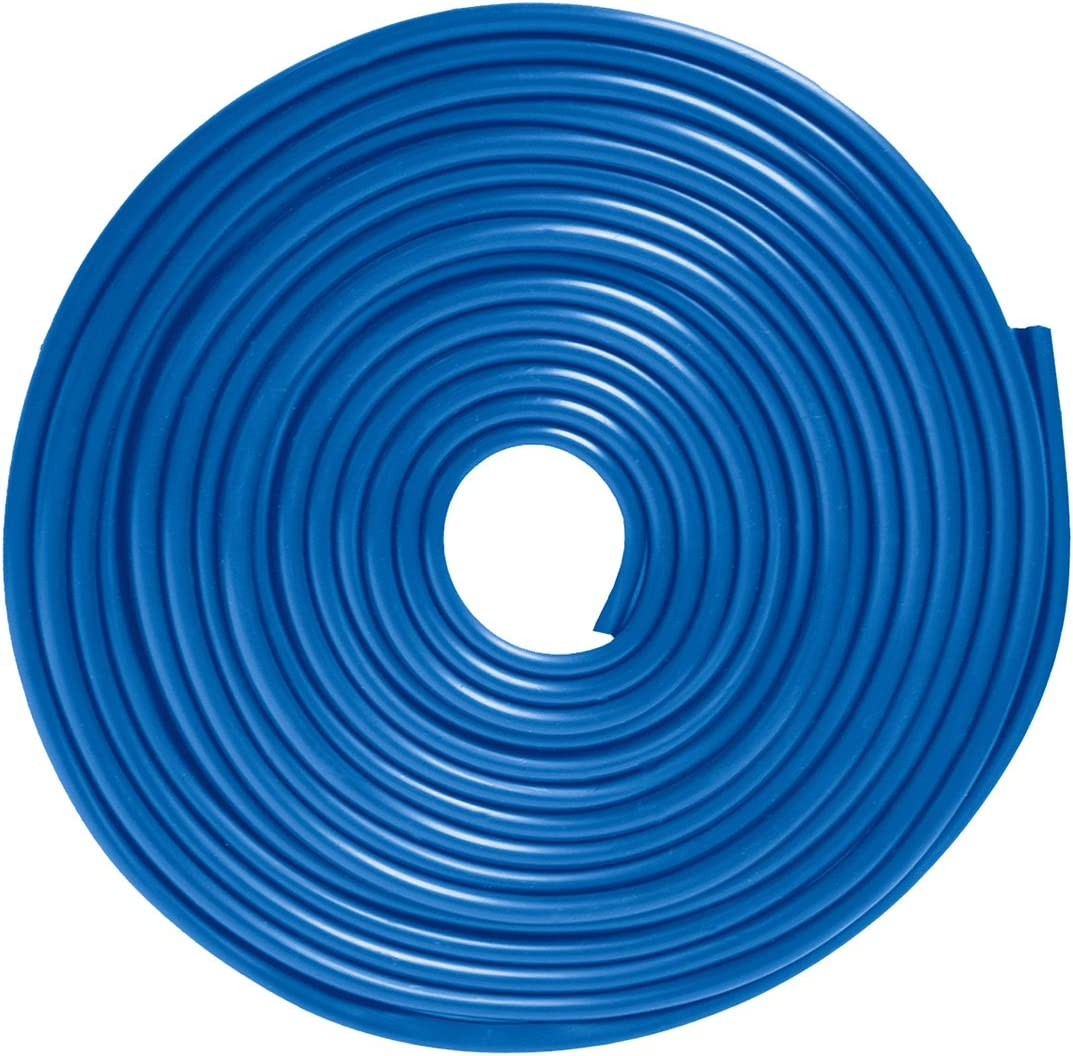 16Ft ECLEAR Moulding Anti Scratch Rubber Strip Guard Cover For Universal Vehicle SUV,Blue Car Edge Door Trim Seal Protector 5M