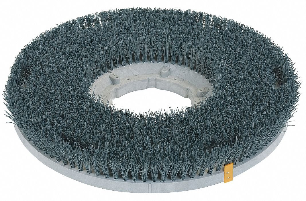11'' Round Cleaning, Scrubbing Rotary Brush for 13'' Machine Size, Light Green
