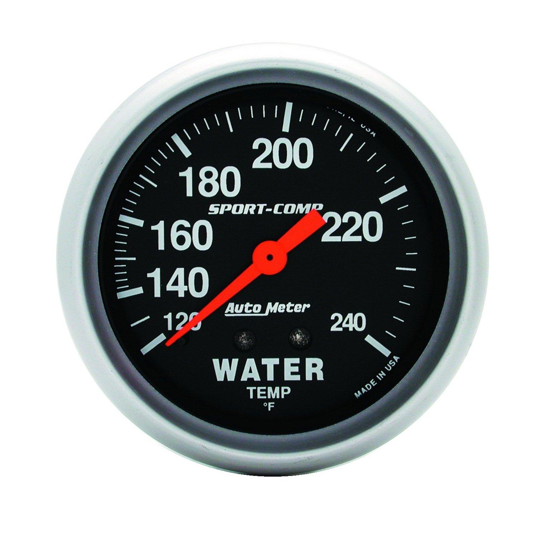 Auto Meter 3432 Sport-Comp Mechanical Water Temperature Gauge by AUTO METER