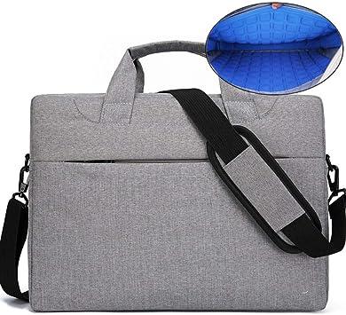 DPWJT Mujer con maletín de Cuero,Estuche para Laptop Messenger,Funda para portátil a Prueba de Golpes Airbag-Gris_15 Pulgadas,Maletín Gris de Hombre de Negocios,Bolsa médica para niños: Amazon.es: Electrónica