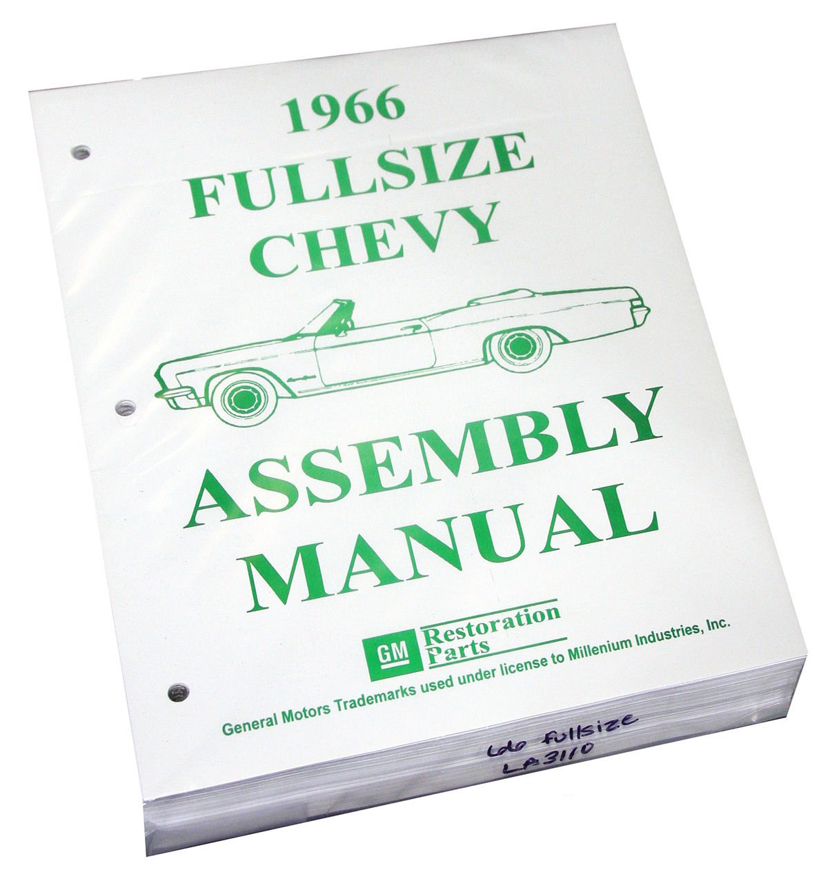 Inline Tube (I-2-14) Factory Assembly Manual for 1966 Chevrolet Full Size Cars Bel Air, Impala and Wagons