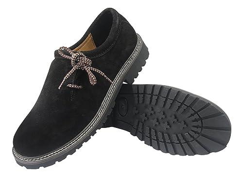 Zapatos de ante con cordones - Para traje tradicional bávaro ...