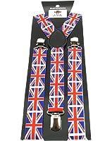 Zac's Alter Ego® Men/ Ladies Adjustable British Flag Print Braces/ Suspenders