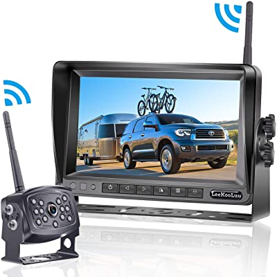 LeeKooLuu HD 960P Digital Wireless Backup Camera with 7''Monitor Highway Observation System for RVs,Trucks,Motorhomes,Travel Trailers Hitch Rear View Camera Super Night Vision DIY Guide Lines: Car Electronics