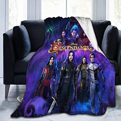 "JamesMMika Descendants 3 Throw Blanket Warm Blanket for Kids Boys Girls Adults 3D Fashion Print Blanket Perfect for Couch, Sofa, Bed, All Season 50""x40"": Home & Kitchen"