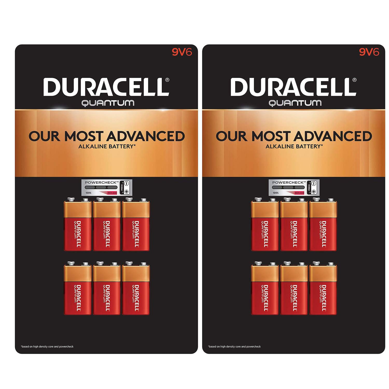 Quantum 9V Alkaline Batteries 6ct. Pk, Packaging May Vary (2 Pack)
