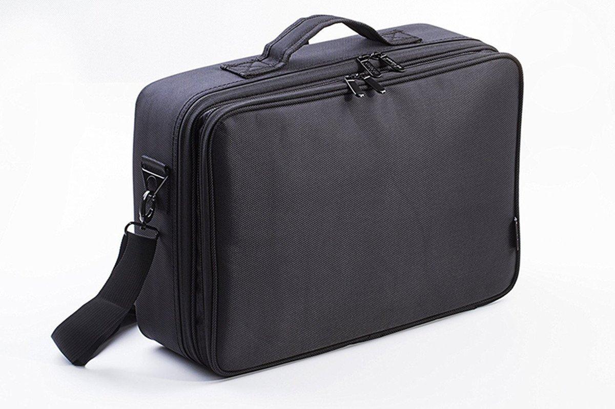 VOSMEP Beauty Case, 31 * 14 * 42 cm di grande capacità, 3 strati di trucco professionale borsa Vanity, ideale per il trucco professionale o beauty case uso domestico Nero HB12 HB012
