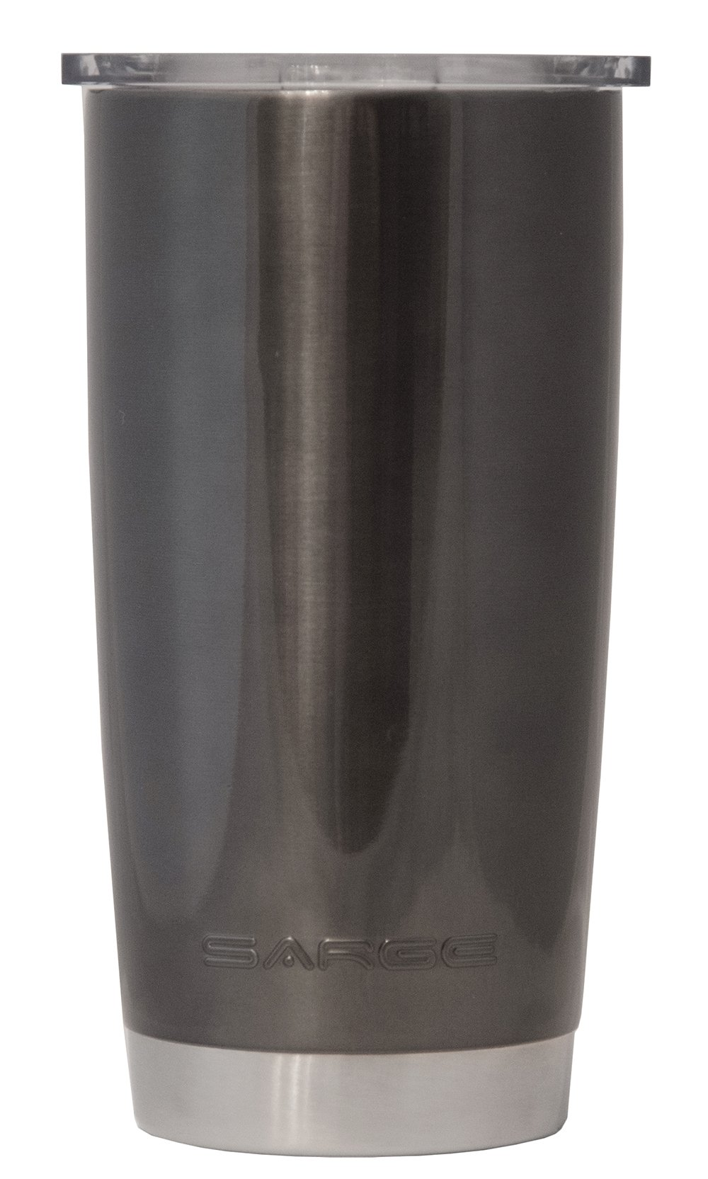 Sarge Knives DC-20BK 20 oz Stainless steel Tumbler with Shatterproof Lid and Black Desert Cup
