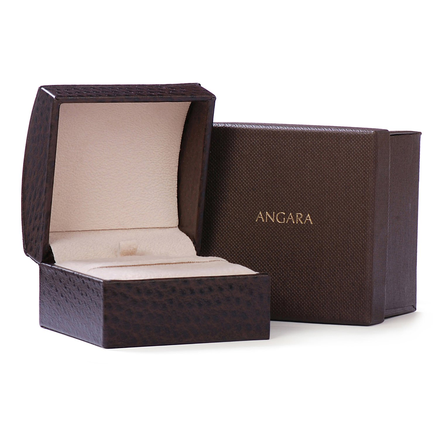 Holiday Offer - December Birthstone - Claw Set Emerald Cut Tanzanite Ring for Women with Diamond Accents in 14K Rose Gold (9mm Tanzanite) by Angara.com (Image #5)