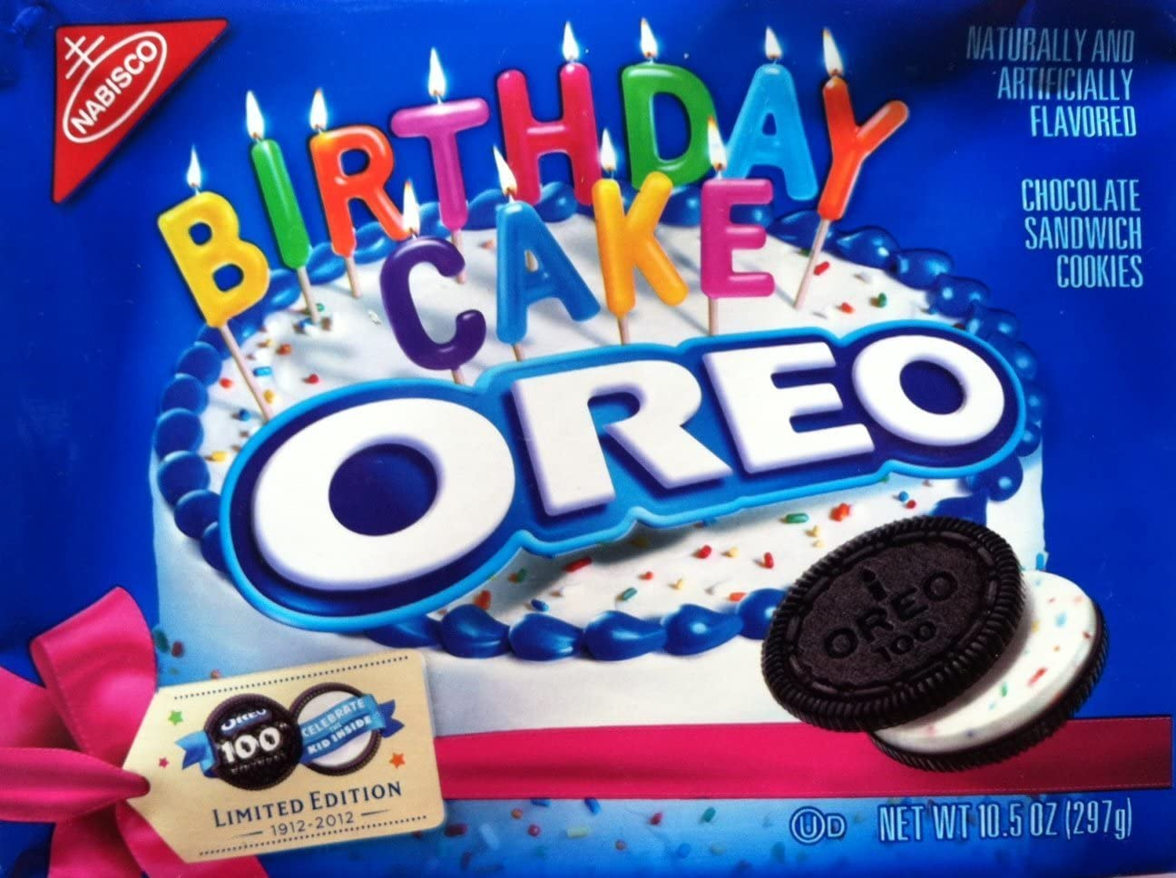 Phenomenal Oreo 100Th Birthday Cake Cookies Pack Of 2 Amazon Co Uk Grocery Funny Birthday Cards Online Overcheapnameinfo