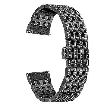 TRUMiRR 22mm Cristal Rhinestone Diamond Watch Band Correa de ...
