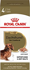 Royal Canin Dachshund Adult Breed Specific Wet Dog Food, 4 3 oz. cans