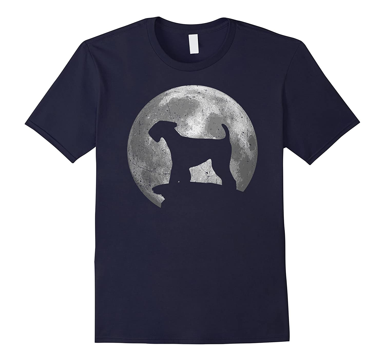 Airedale Terrier Eclipse Full Moon T-shirt Halloween Costume-Art