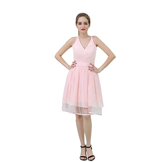 BessWedding Ziper up at Side Chiffon Fashion for Women s Cocktail Party  Dress 2 fbb6d4690