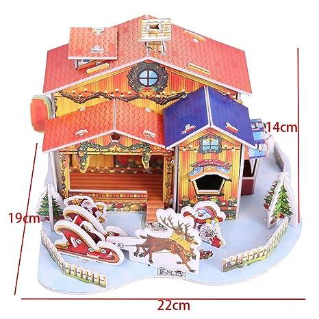 Immagini Natale Hard.Agreey Bellissime Decorazioni Natalizie 3d Hard Paper Puzzle Natale