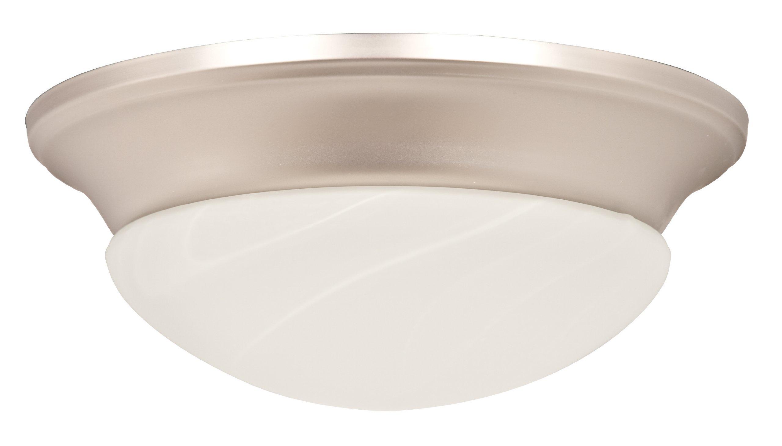 Sunset Lighting F7767-53 Fan Light Kit with Faux Alabaster Twist on Glass, Satin Nickel Finish