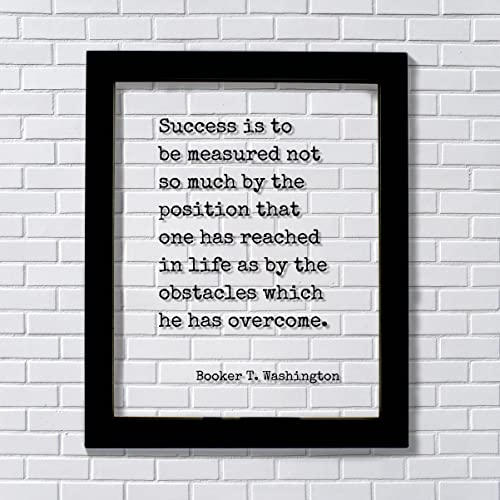 Amazon Booker T Washington Success Is To Be Measured Not So